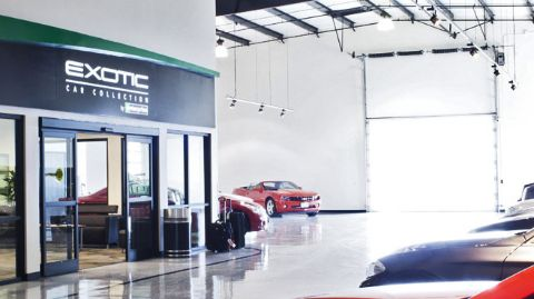 Exotics showroom