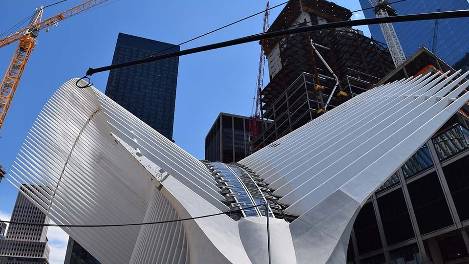 The new transit hub at the World Trade Center in New York City