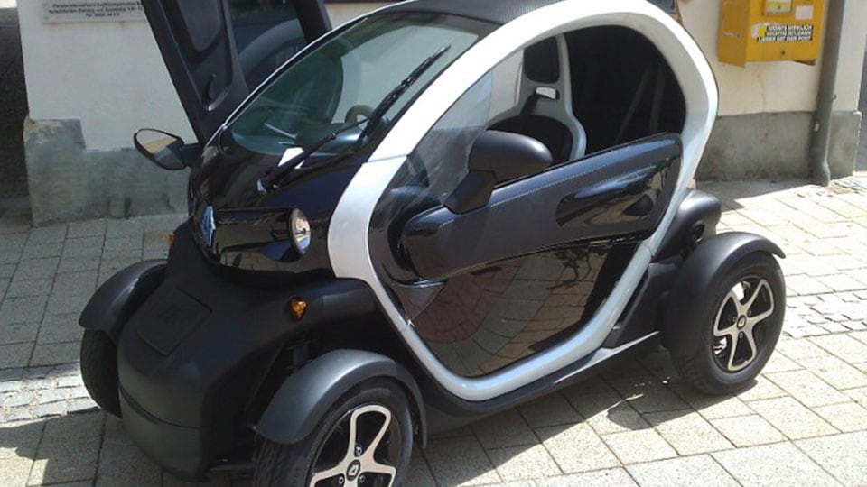 Renault Twizy at the automobile show in Baden, Lower Austria, Austria