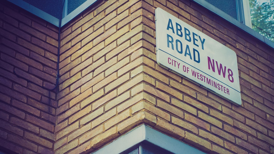 Infamous Abbey Road Sign