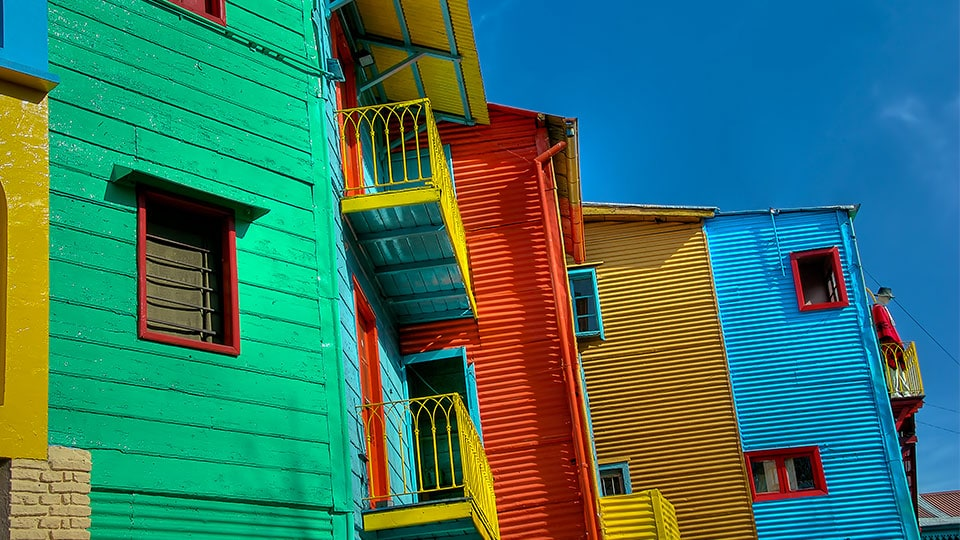 The colourful house of Buenos Aires
